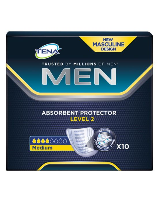 TENA MEN LEVEL 2 PADS MEDIUM 10S