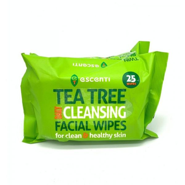 Tea Tree Cleansing Wipes Twin Pack 2X25wipes