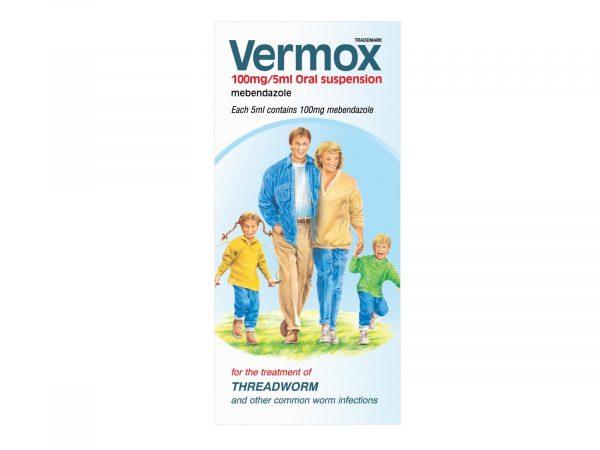 Vermox 100mg/5ml Oral Suspension 30ml