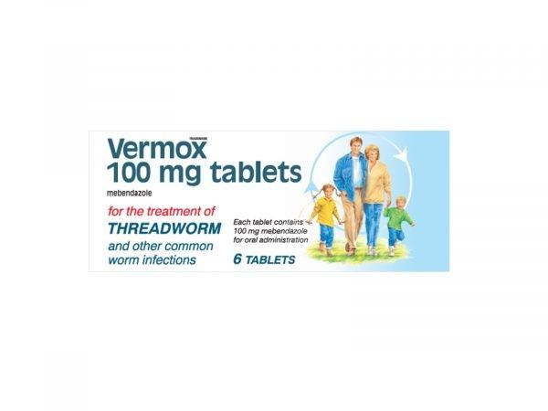 Vermox 100mg 6 Tablets